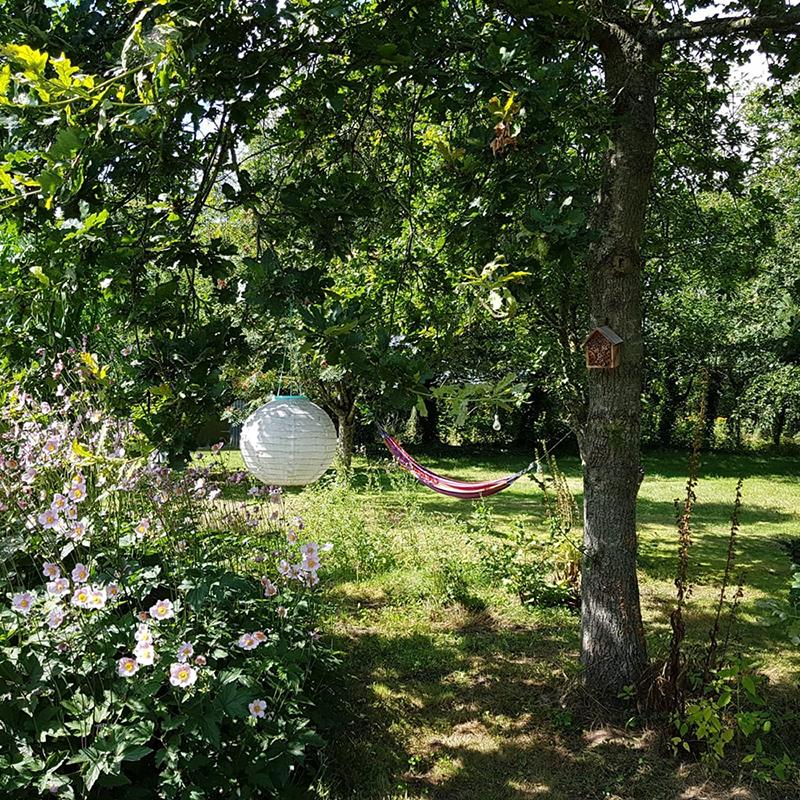 Hangmat in de tuin van Stilbjerg