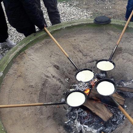 samen pannenkoeken bakken
